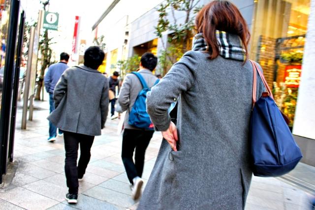 徒歩の尾行調査